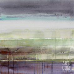 Basement Bathroom- Purple Rain I Art Print by Lanie Loreth at Art.com