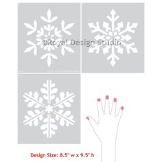 Winter Snowflake Christmas Furniture and by royaldesignstencils