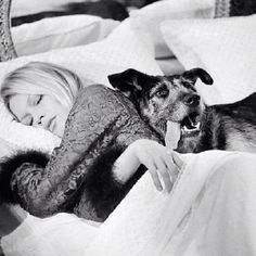 Brigitte Bardot and friend.