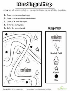 Worksheets: Using a Map Key
