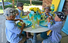 A tea party for boys? It can be done! I can do this for a birthday and still have the boys come!