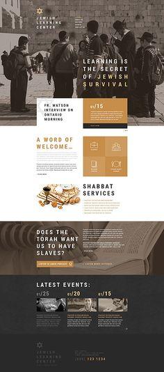 Website Vorlage für jüdische #Schule