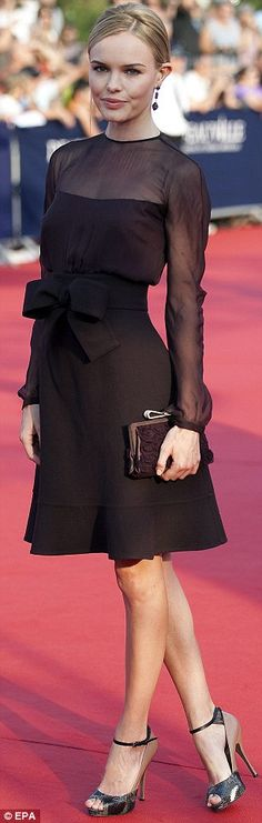 Black love. Kate Bosworth. modern, sophisticated. Valentino.