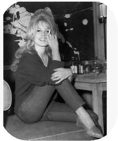 Bridget Bardot. What I would give for that hair....