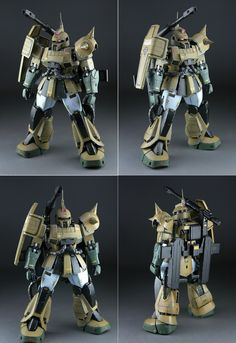 MS-06K Zaku Cannon Robot Series, Real Robots, Gundam Wing, Custom Gundam, Mecha Anime, Gundam Model, Mobile Suit, Plastic Models, Zion