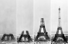 Under construction: the Eiffel Tower