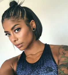 2018 Short Hairstyle Ideas For Black Women. Enter in 2018 with a fierce new hair. - New Hair Styles Short Hairstyles For Women, Bun Hairstyles, Trendy Hairstyles, Straight Hairstyles, Black Hairstyles, Hairstyle Ideas, Ponytail Haircut, Gorgeous Hairstyles, Hairstyles 2016