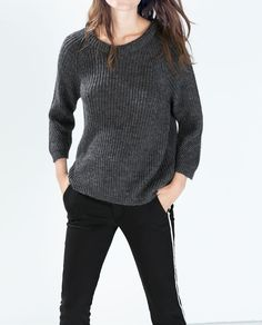 ZARA - WOMAN - CROPPED SWEATER WITH 3/4 SLEEVES