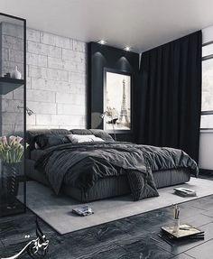 Minimalist Bedroom 609323024574457678 - 50 Mens Bedroom Ideas Masculine Interior Design Inspiration 26 Source by Interior Design Trends, Interior Design Minimalist, Apartment Interior Design, Minimalist Bedroom, Interior Design Inspiration, Design Ideas, Black Interior Design, Minimal Design, Bedroom Inspiration