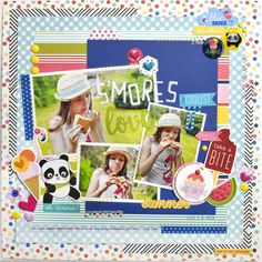 Bella Blvd | Popsicles & Pandas Collection | Layout by Amy Heller