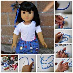 make doll hair extensions