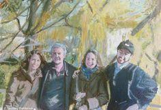 Simon et sa famille, oil on canvas, 38 x 55 cm, 2013.