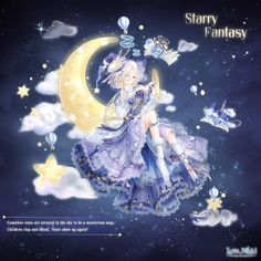 Starry Fantasy is a Lilith suit that could be obtained from the Starry Dream event. Completion Prize: A Styling Gift Box containing An Array of Stars and Anime Girl Dress, Anime Art Girl, Fille Anime Cool, Character Art, Character Design, Nikki Love, Star Show, Anime Princess, Beautiful Anime Girl