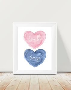 b10bc95c5329 Pink and Navy Nursery 11x14 Brother Sister by OutsideInArtStudio Boy And  Girl Shared Room