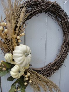 Autumns Harvest Wreath   Autumn Wreath   Elegant Wreath   Hand Crafted Wreath  Fall Wreath  October   Thanksgiving Decor on Etsy, $60.00