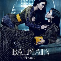 Balmain Taps Power Sisters for Fall 2015 Campaign ❤ liked on Polyvore