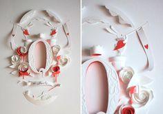 Papercraft ou papercutting de Alice no País das Maravilhas - IDEAGRID _06