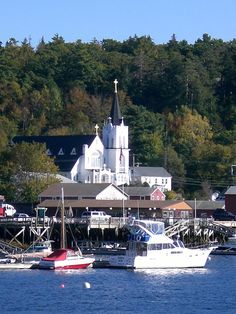 Boothbay Harbor, Maine  I would love for my family to see Maine someday.  Have childhood memories of going to visit my dad's family here.
