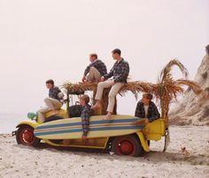 The Beach Boys going for a surfin' safari...1964