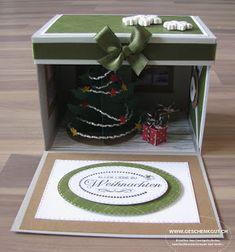 Überraschungsbox Explosionsbox Weihnachten Geschenke unter dem Weihnachtsbaum Geschenkgutschein Geldgeschenk