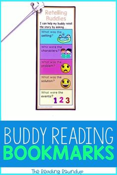 Is your Daily 5 Buddy Reading Center as effective as you'd like for it to be? These reading buddies bookmarks are guaranteed to lead to more student engagement. Elementary students can practice decoding unknown words, answering comprehension questions, making connections, and retelling stories with these bookmarks. Reading response sheets are also available for additional accountability. A must-have for your reading workshop! #thereadingroundup #literacycenters #readingbuddies Reading Centers, Reading Workshop, Literacy Centers, Third Grade Reading, Student Reading, Second Grade, Partner Reading, Reading Response, Reading Bookmarks