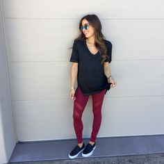 the ultimate comfy, athleisure look! you'll never want to get out of this comfy tee and these cute mesh leggings!  A Double Dose blog adoubledose.com    http://liketk.it/2pDAZ @liketoknow.it #liketkit
