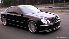 Mercedes Benz E55 AMG on 20 Vossen VVS-CV3 Concave Wheels / Rims