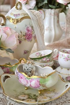 Shabby Chic Serving Pieces for Tea Time:)
