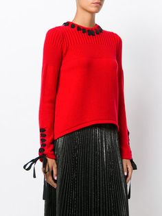 Fendi lace-up detailing sweater