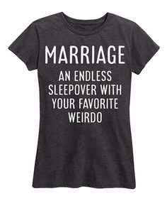 3590ce4036f4 Take a look at this Heather Charcoal  Marriage  Short-Sleeve Classic Fit Tee