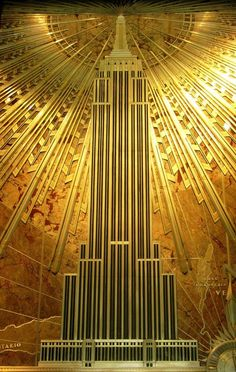 Mural inside the Empire State Building - I love this. I took photos of it when I was there in 2003.