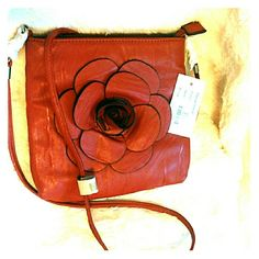 Red Purse Flower red purse boutique Bags Shoulder Bags