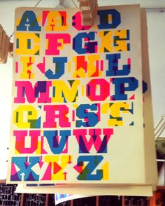 Luglio 4, 2014 Permalink »  Alphabet by Cabaret Typographie and Officina Typo