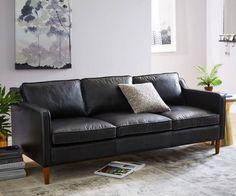 Hamilton black leather sofa
