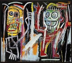 """Jean-Michel Basquiat """"Dustheads"""" (1982) for $48.8 million. To read more see our blog at ROBIN RILE FINE ART"""