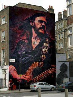 All Hail Metal: Amazing Lemmy Kilmister Gravity Art Murals Street Art, Street Art Banksy, 3d Street Art, Amazing Street Art, Art Mural, Street Artists, Wall Art, Heavy Metal, Black Metal