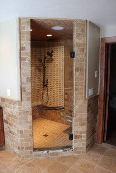 Travertine Slate Shower Design, Pictures, Remodel, Decor and Ideas - page 171