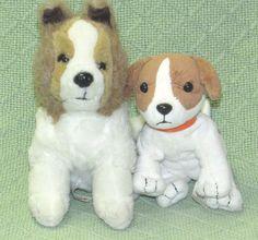 "Pair Nintendogs DOGS 5"" Puppy with Sound & 7"" Collie Plush Stuffed Animals Toys #Nintendo"