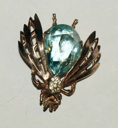 Vintage Reja Sterling Costume Jewelry Insect Brooch