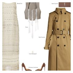 """""""Untitled #4005"""" by amberelb ❤ liked on Polyvore featuring Rachel Zoe, Yves Saint Laurent, Tome, Lena Skadegard and Christian Louboutin"""
