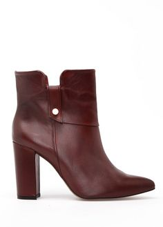 MANGO - Leather pointy ankle boots