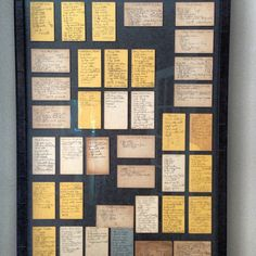 Recipe Cards!  My cousin posted this picture of old recipe cards framed.  I have to do this with some of Mom and Grandma's recipes!