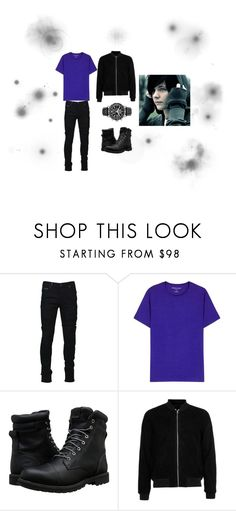 """Just Another Day"" by firewizard2400 on Polyvore featuring Marcelo Burlon, Derek Rose, Timberland, Topman, Citizen, men's fashion and menswear"