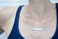 FAITH++Braille+Necklace+in+Sterling+Silver+by+LeighLuna+on+Etsy,+$59.00