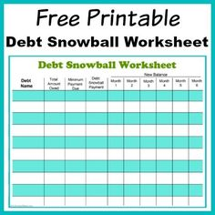 Perhaps the best way to pay down your debt is with the debt snowball method! Use my free printable debt snowball worksheet to get started!