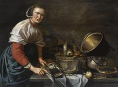 ArtHistoryReference - Willem van Odekercken - Woman Cleaning Fish