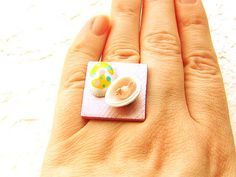 Kawaii Cute Japanese Ring Easter Egg by SouZouCreations on Etsy, $8.50