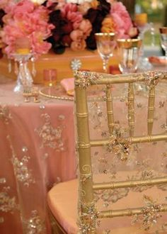 Gold lace overlays