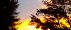 um belo entardecer, com um rio de ouro no céu... litoral norte do rio grande do sul, brasil... em nossa casa, no paraíso
