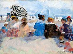 Gossiping on the Beach - Martha Walter (1875-1976)